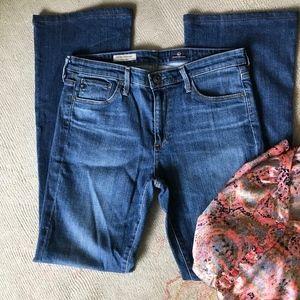 AG mid-rise Stevie boot cut jeans, 30R
